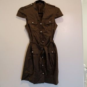 Express dress. Army greenish/olive in color
